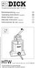 F.Dick Sausage Stuffer  - 6 Liter (12/15lb.) Manual & Parts List - 90606000