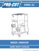 ProCut KMG-32 Meat Mixer Grinder Parts - Parts List