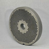 #22 Meat Grinder Plate with 1/8'' Holes - Reversible & Hubbed Plate - 102328 & 102991