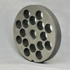 #22 Speco Meat Grinder Plate with 1/2'' Holes - Reversible & Hubbed Plate - 102376 & 104893