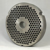 #52 Speco Meat Grinder Plate with 3/16'' Holes - Reversible & Hubbed Plate - 104637 & 103421