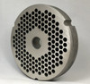 #52 Speco Meat Grinder Plate with 1/4'' Holes - Reversible & Hubbed Plate - 105541 & 102285