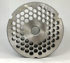 #52 Speco Meat Grinder Plate with 3/8'' Holes - Reversible & Hubbed Plate - 103455 & 106583