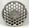 #52 Speco Meat Grinder Plate with 1/2'' Holes - Reversible & Hubbed Plate - 106926 & 107093