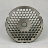 #32 Speco Meat Grinder Plate with 3/8'' Holes - Reversible & Hubbed Plate - 102813 & 102544