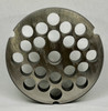 #32 Meat Grinder Plate with 1/2'' Holes - Reversible & Hubbed Plate - 103483 & 104768