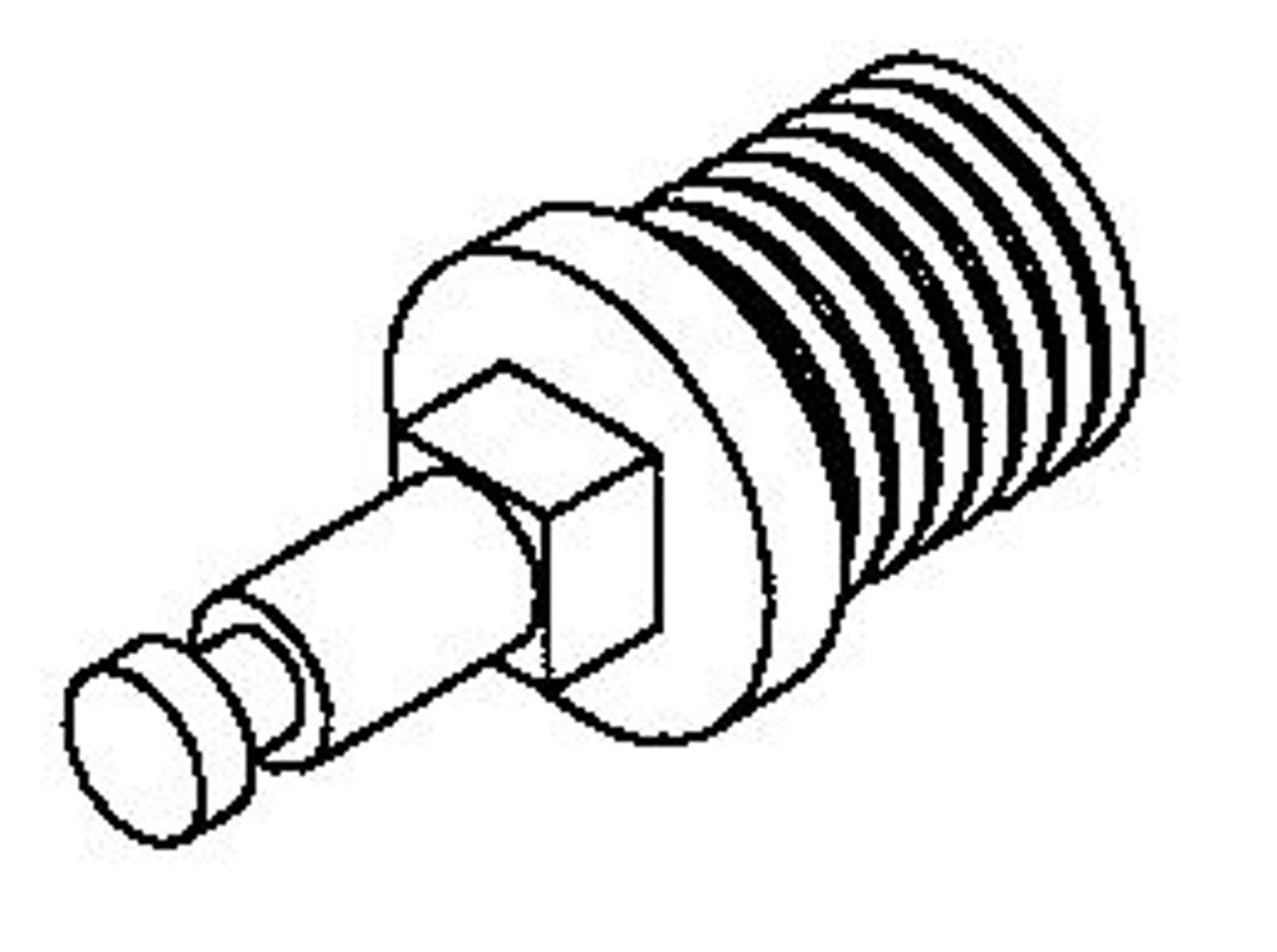 Hobart H509 - Worm Feed Screw Stud - Hobart 4146,4246,4346,4632,4732,4732A