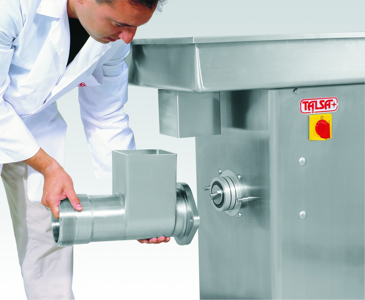 Talsa #22 - Stainless Steel Meat Grinder (Removable Pan) - Table Top