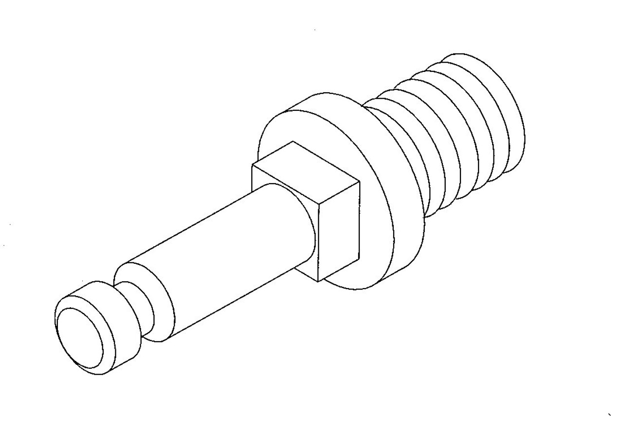 Hobart H540 - Worm Feed Screw Stud - Hobart 4056,4156,4352