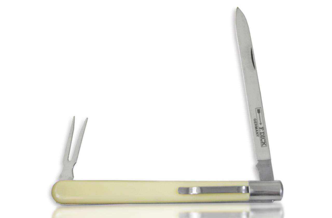 "F.Dick 8200111 - 4"" Sausage Sampling Knife w/ Fork"