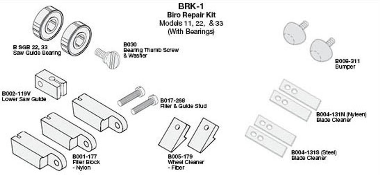 Biro Saw Repair Kit 11,22,33 - BRK-1