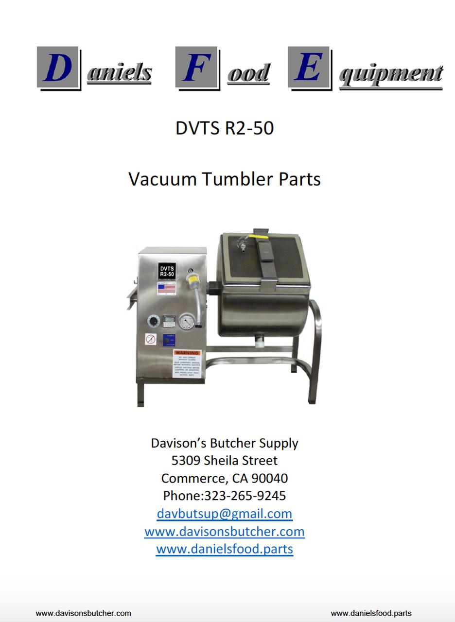 Daniels Food DVTS R2-50 Vacuum Tumbler / Marinator Parts - Parts List
