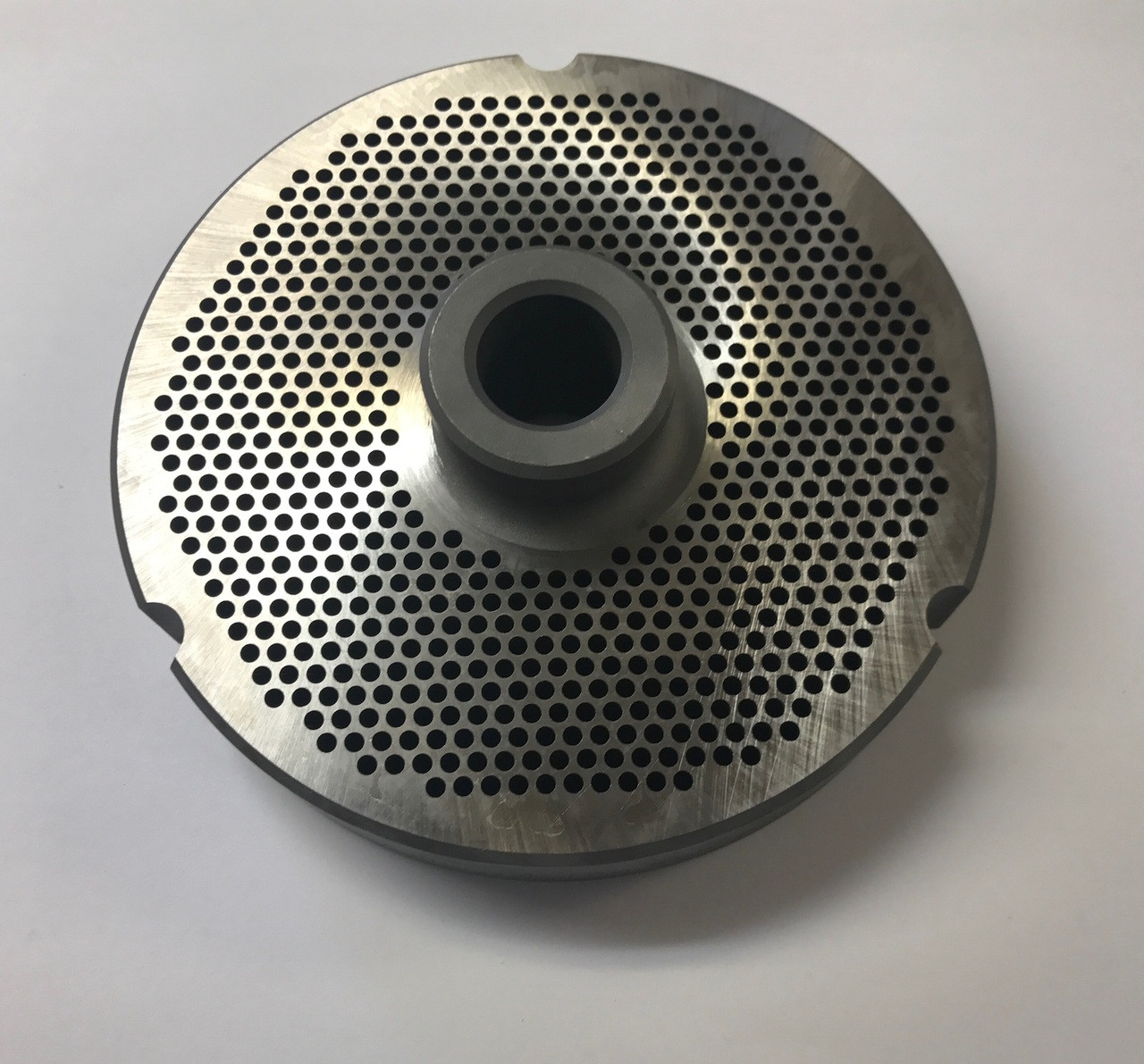 """#52 Speco Meat Grinder Plate with 7/64'' Holes - """"Hub Plate"""" - 103403"""