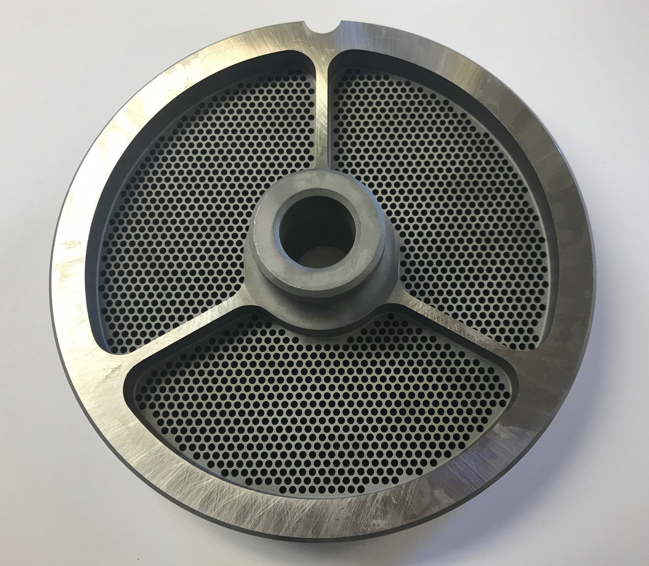 """#56 Meat Grinder Plate with 5/64'' Holes - """"Hub Plate"""""""