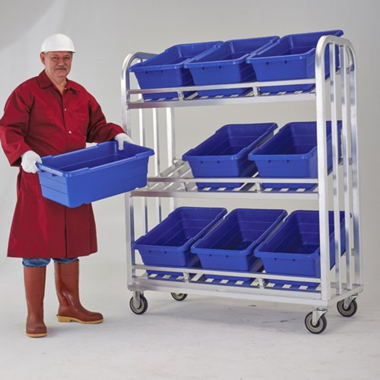 Meat Tote Aluminum Merchandising/Picking Cart