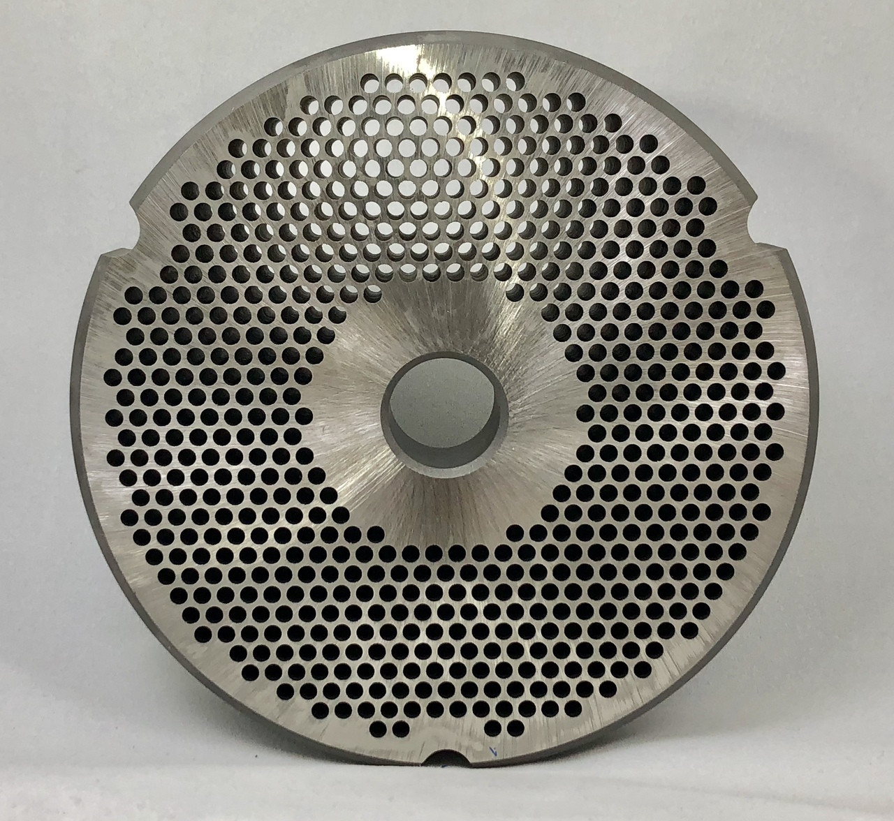 #52 Speco Meat Grinder Plate with 1/8'' Holes - Reversible & Hubbed Plate - 102257 & 106298