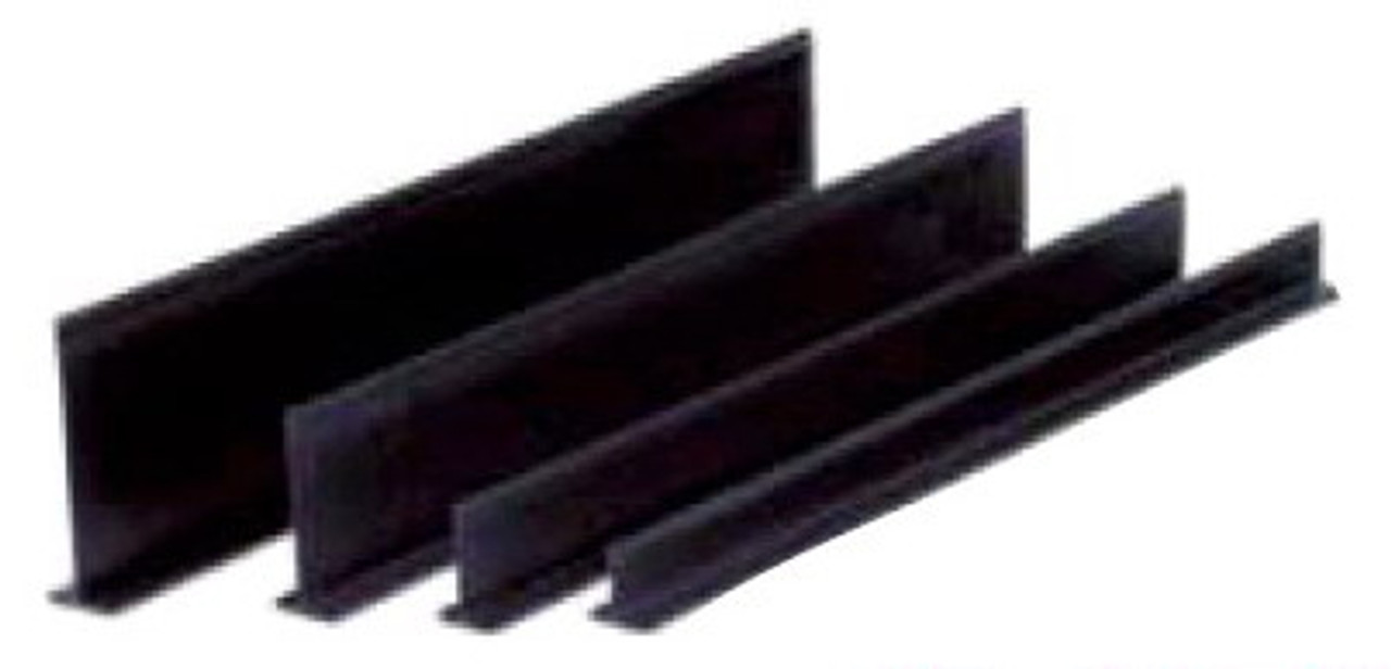 Plastic Dividers - All Black 5'' High