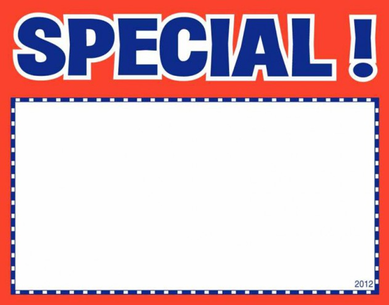 Price Card - Special 3.5'' x 5.5''