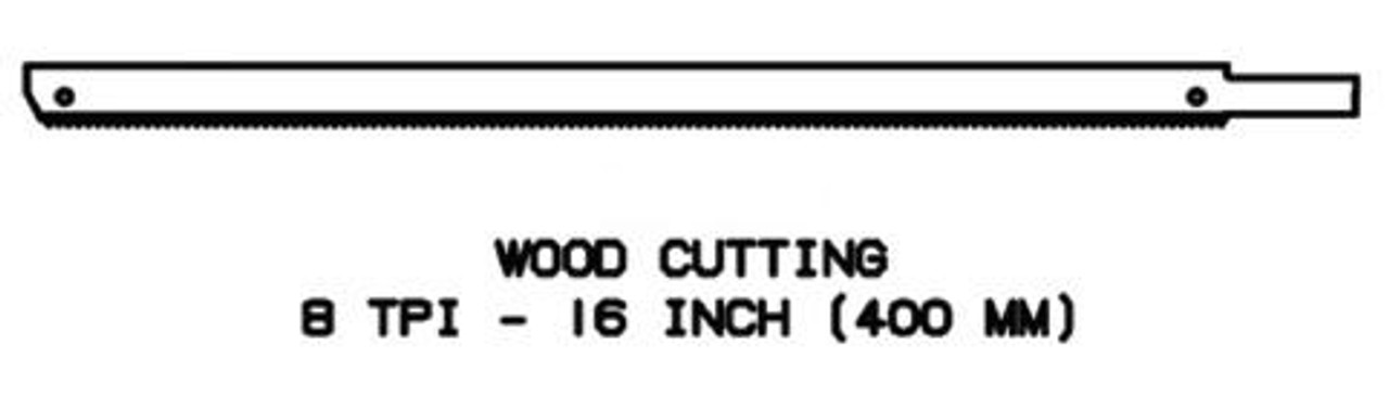 16'' Wood Replacement Blade for Jarvis Wellsaw 400, 404, 420, 424, 444 - 1023127