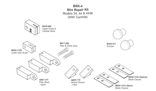 Biro Saw Repair Kit 34,44 & 4436 - BRK-4