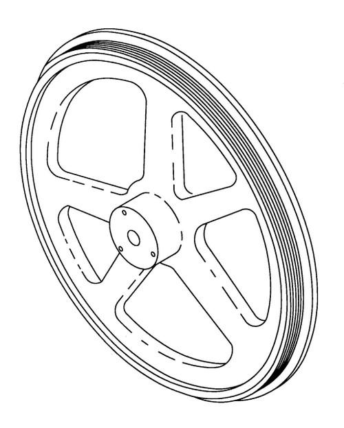 Butcher Boy Saws B12,B14,B16,SA16, & SA20 - Lower Wheel - All Models - BB106L,BB083-1410,BB081-1610,BB114L