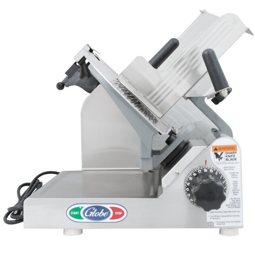"Globe 3600NF 13"" Heavy Duty Manual Frozen Meat Slicer - 1/2 HP"