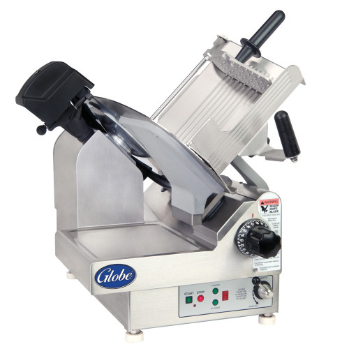 "Globe 3975N 13"" Heavy Duty Automatic 9 Speed Slicer - 1/2 HP"