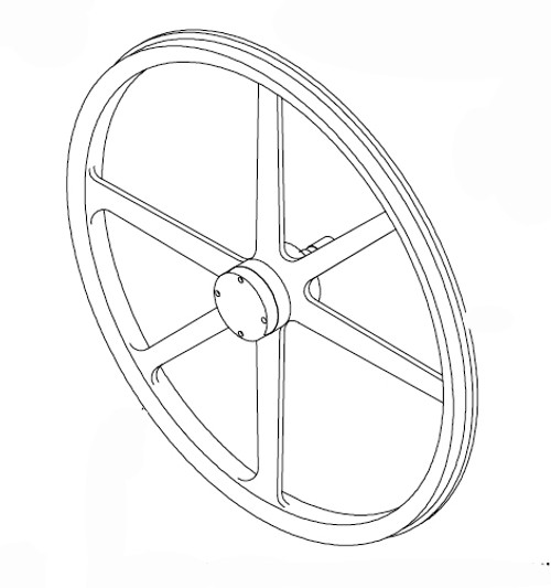 Butcher Boy SA36 - Upper Wheel Assembly - 36040