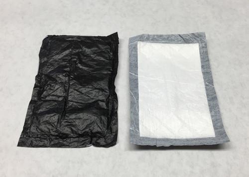 """Poultry Pad - Soaker Pad - Black & White - 4"""" x 6""""  2,000 per Box"""