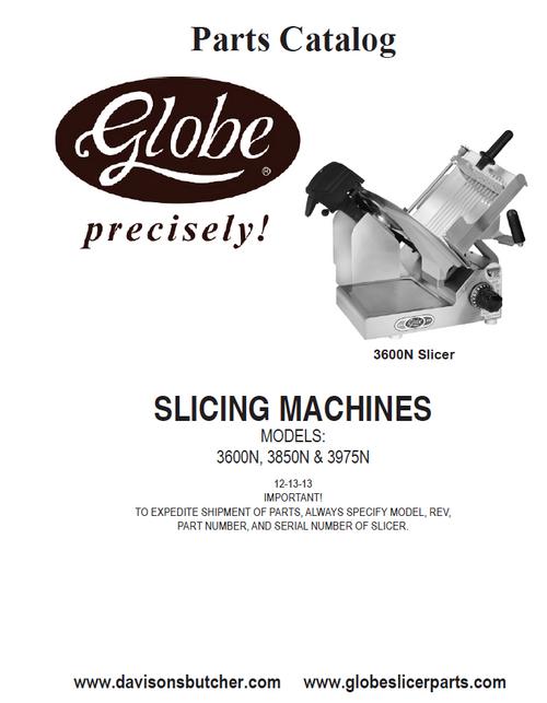 Globe 3600N 3850N 3975N - Slicer Parts List