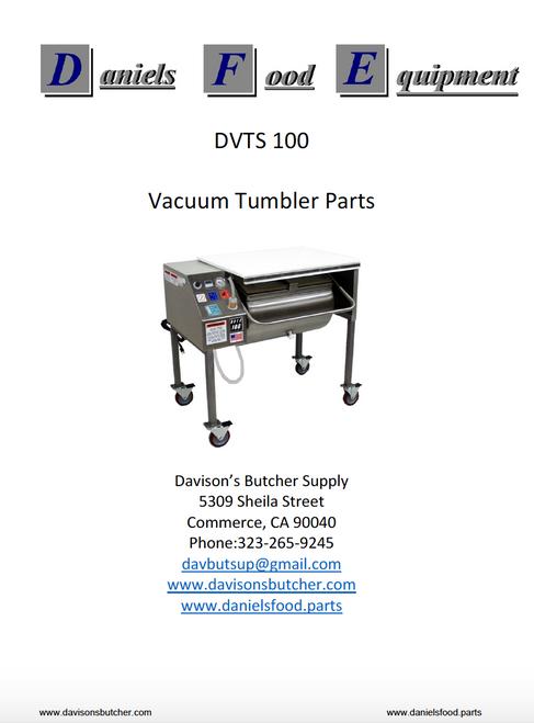 Daniels Food Dvts 100 Vacuum Tumbler Marinator Parts