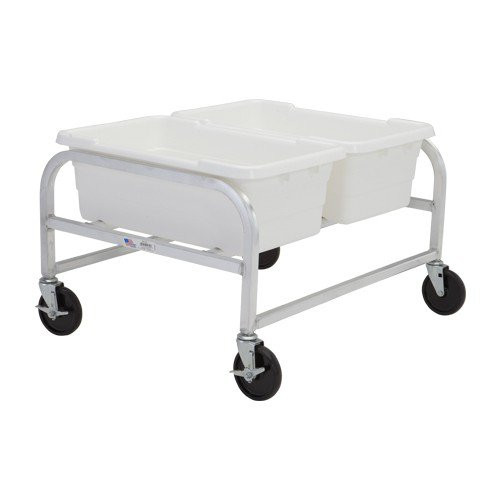 Two Tote - Side-by-Side -- Standard-Duty Aluminum Dolly