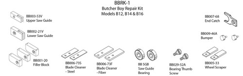 Butcher Boy B12,B14,B16 & SA16 - Repair Kit - BBRK-1