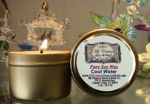 2 oz Pure Soy Wax Travel Candle