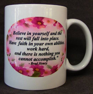 """Cup of Wisdom Candle - """"Believe in Yourself..."""""""