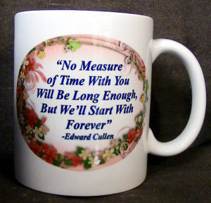 """Cup of Wisdom Candle- """"No Measure of Time With You Will Be Long Enough, But We'll Start With Forever"""""""