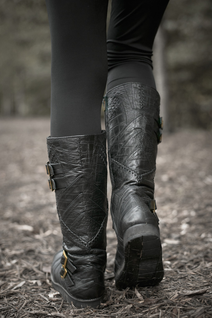 Leather Vajra Moto Boots (Hidden Pockets)