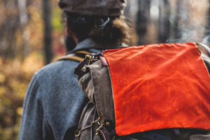 The Windigo Signal Bag attached to the Isle Royale Jr. to add a bit of visibility in the woods. Made in USA.