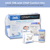 Save 10% today when you order a CPAP Comfort Kit. Bundle includes CPAP Pillow, custom fit cpap pillow case, cpap mask wipes and  a hose cover to eliminate rain out and condensation