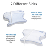 CPAPMax Pillow 2.0 Replacement Cover Features Pillow Top Fiber Fill Side or flip the pillow over for Cool 3D Mesh side.