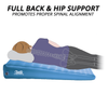 Full Back & Hip support promotes proper sleeping alignment