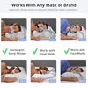 The CPAPMax Pillow is designed to work with all mask types and brands