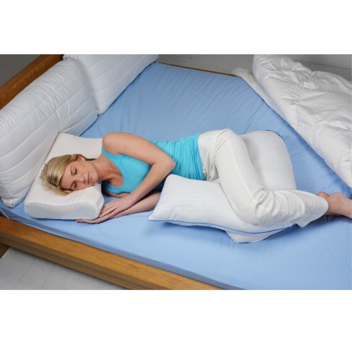 L Shaped Body Pillow For Added Support When Sleeping