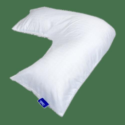 L Shaped White Body Pillow Case