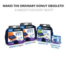 Kabooti Family Line includes Kabooti Original, Kabooti Wide, Kabooti Ice and Reusable Ice Gel Packs for the Kabooti Seat Cushions