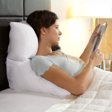 Versatile bed pillow and wedge cushion combination