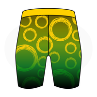 Speed Beast Green Circles Womens Compression Short