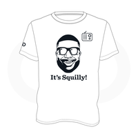 Scoop B Radio 'It's Squilly!' White T-Shirt