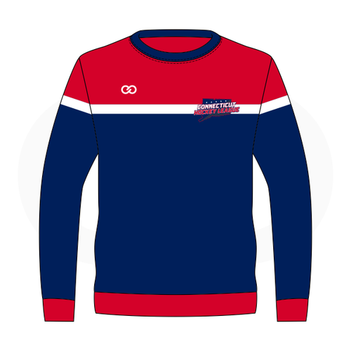 Connecticut Hockey League - Sweatshirt - Navy & Red