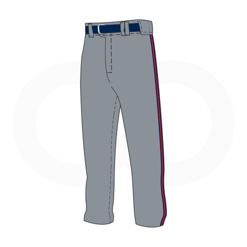 Arlington Twins Grey Baseball Pants